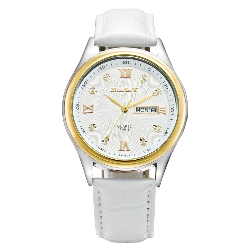 ZhouLianFa Watch Men Luxury Brand Unisex Popular Watches Quartz Stainless Steel Dial Leather Band Wrist Watch Clock Gift