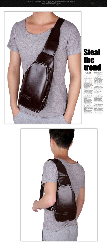 Purse Chest Bag Male Slant Bag Student Single Shoulder Bag Tide Backpack 16038