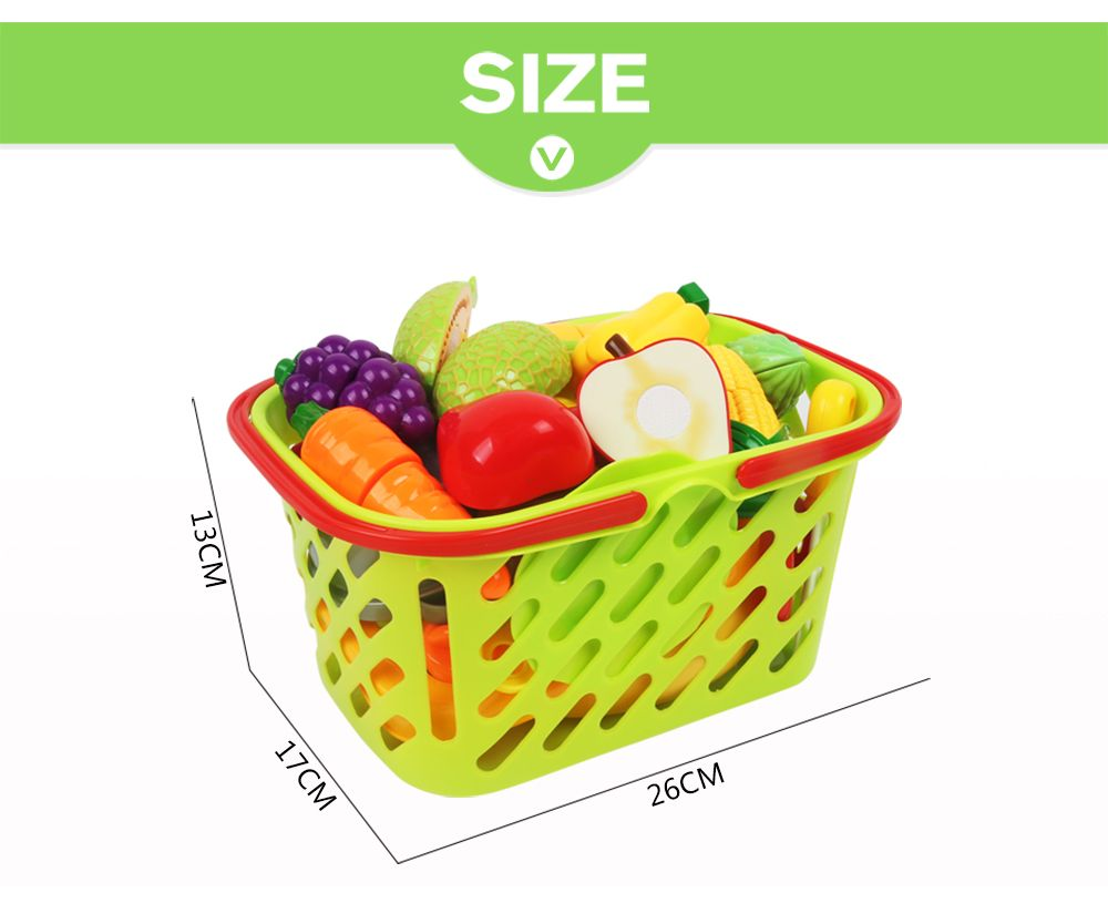 Early Childhood Education Big Basket Fruits Vegetables Toy