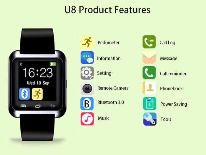 U8 Smart Watch with Pedometer Function