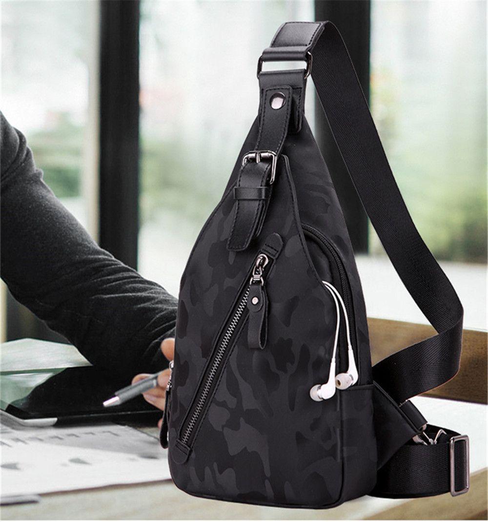 Men's Canvas Chest Bag Satchel Shoulder Riding Bag XB6005