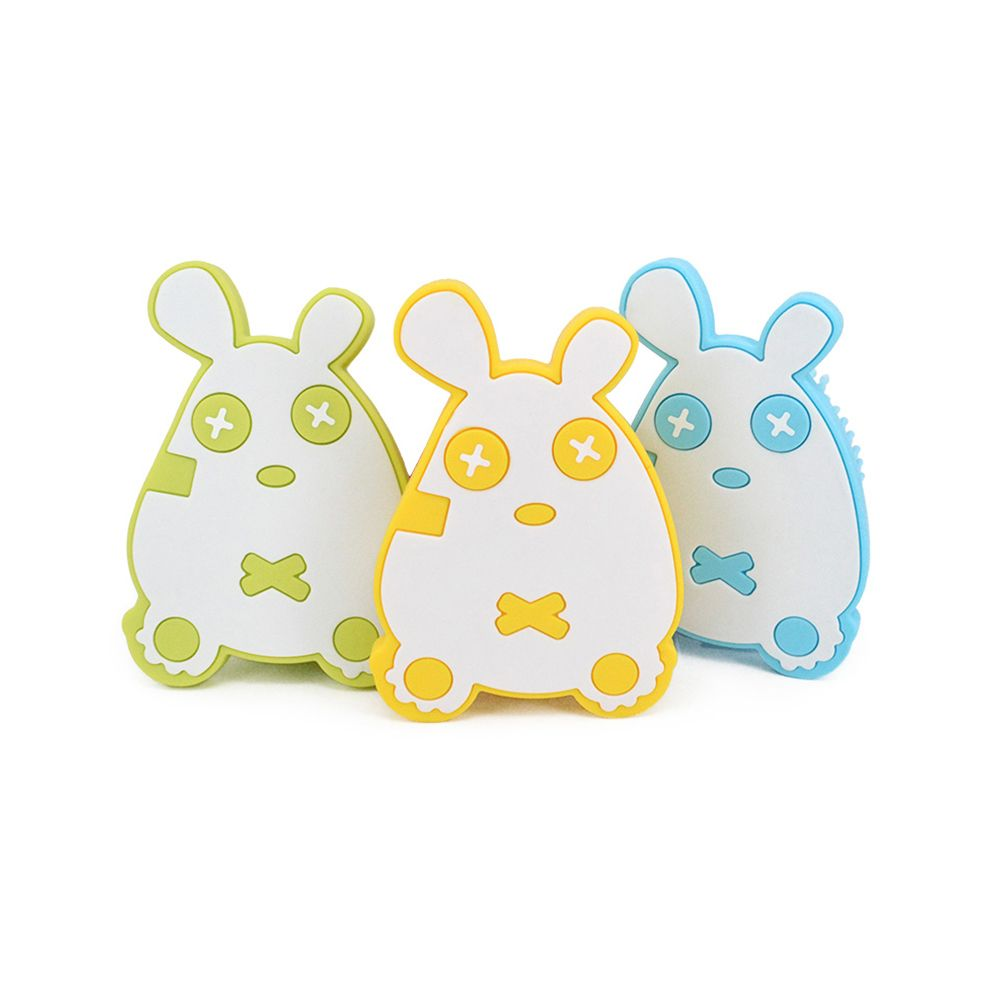 Cute mouse silicone bath brush MY0138-blue