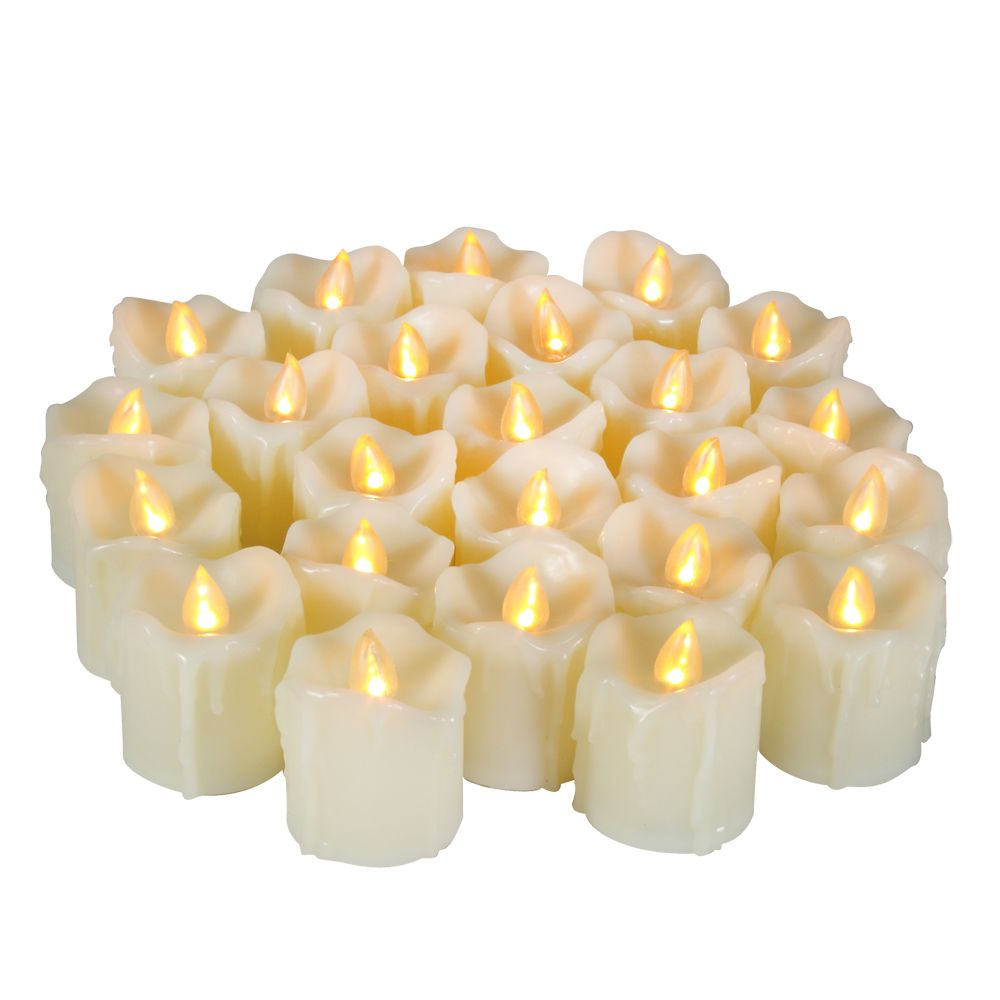 Set of 6pcs LED Big Votive with Timer