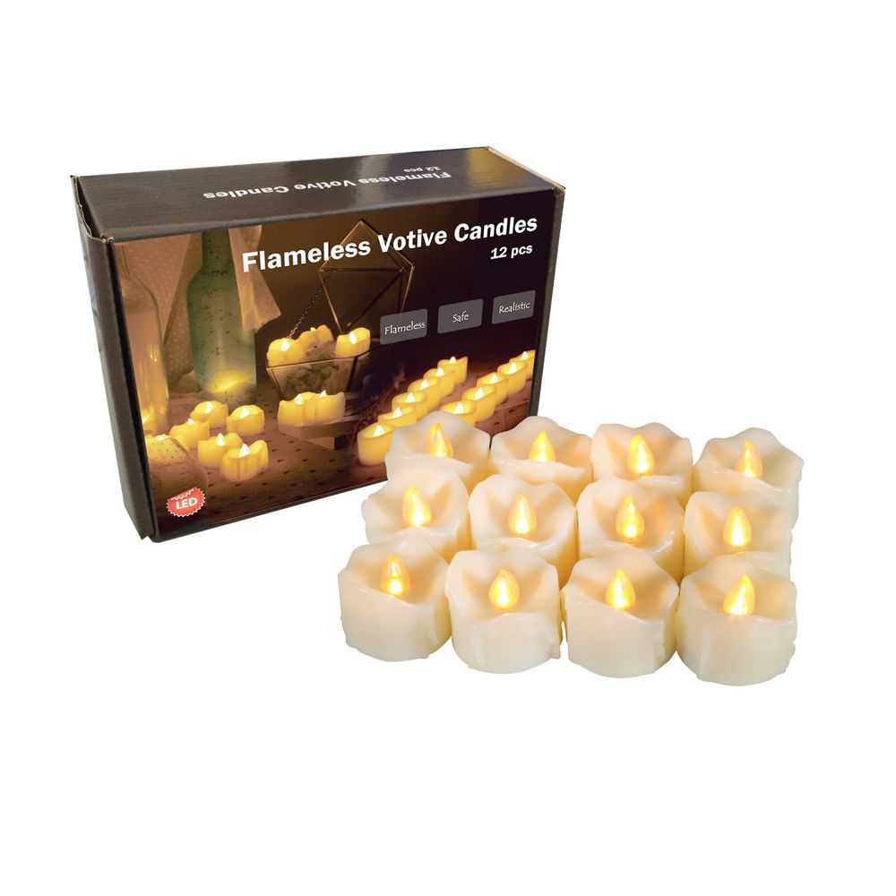 Set of 6pcs LED candles with drips with Timer