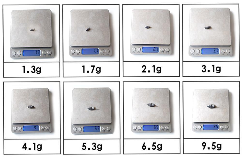 Universal Lead Head 10PCS 1.3G 1.7G 2.1G 2.8G 3.8G 5.3G 6.5G 9.5G