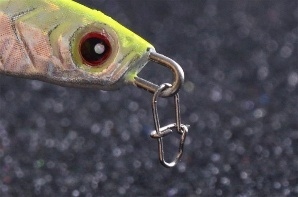 High Strength Lure Pin Hook Lock Snap Swivels  20PCS
