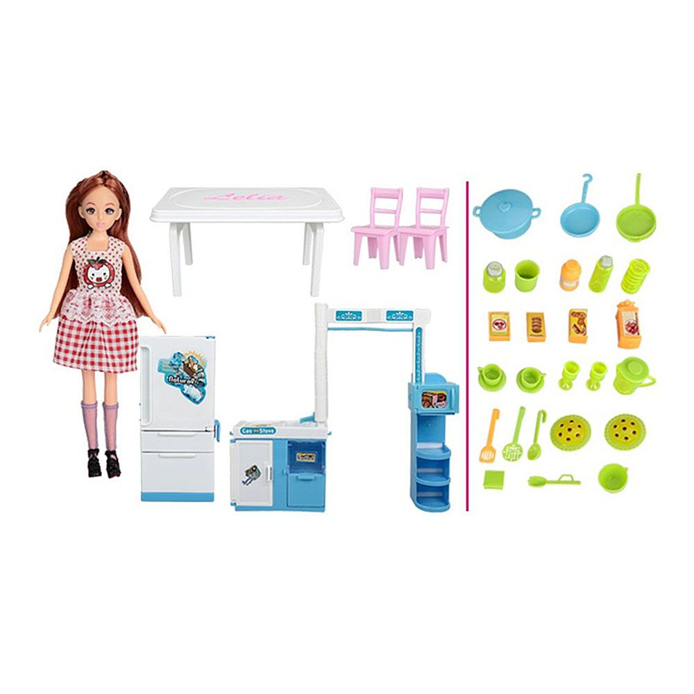 Baby Kitchen Furniture Children Cooked Food for Girls Toys Birthday Presents