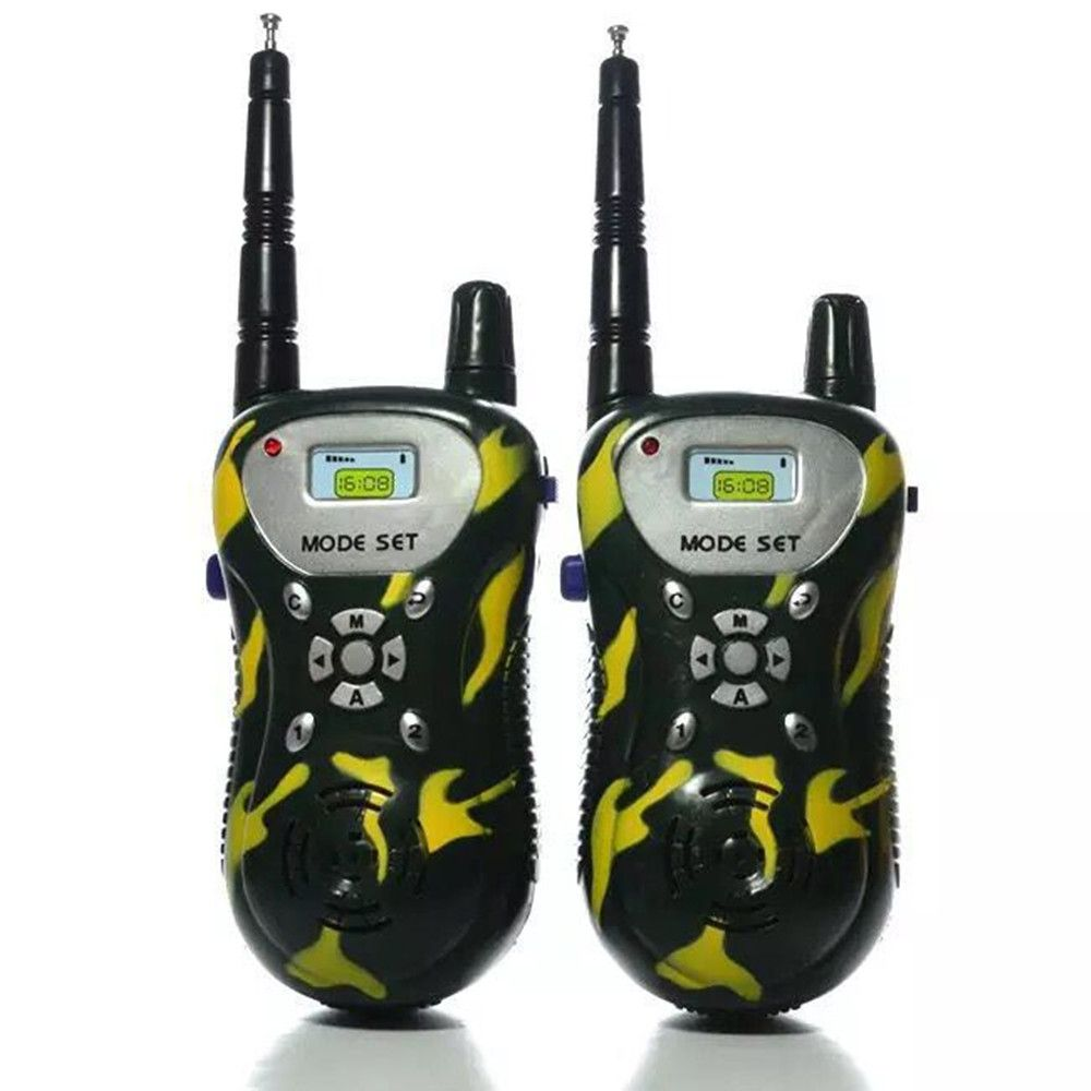 Kids Walkie Talkies Portable Two Way Radios Rechargeable Long Range Walky Talky for Children Cool Outdoor Toys