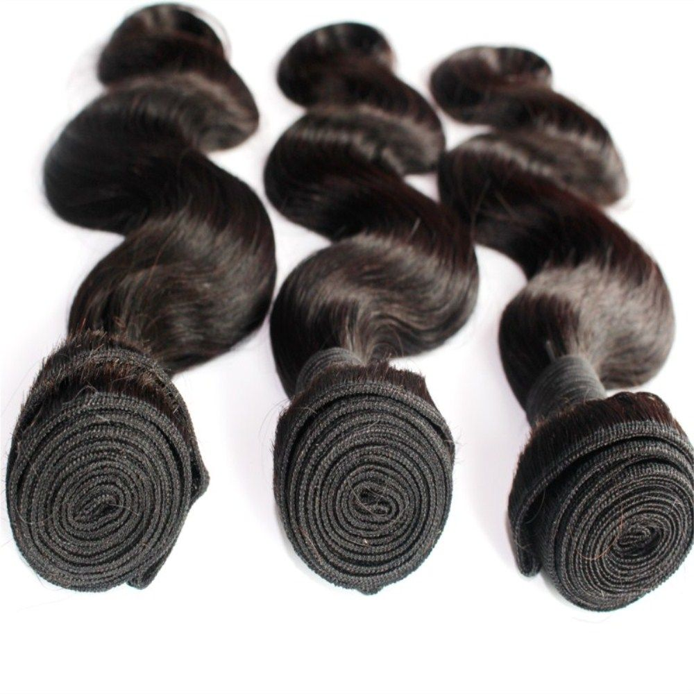 Body Wave 100 Percent Brazilian Virgin Human Hair Weave 10-20inch 300grams/lot