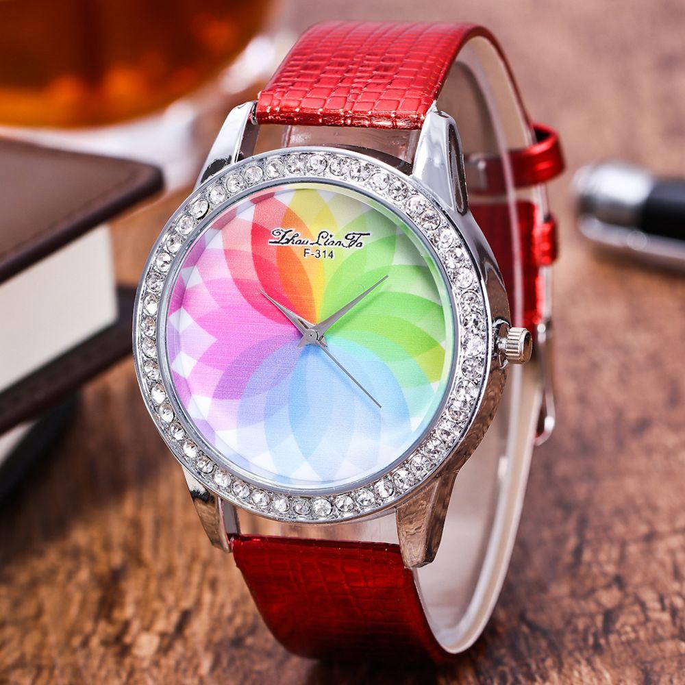 ZhouLianFa The New Fashion Trend Crocodile Pattern Movement Quartz Diamond Watch