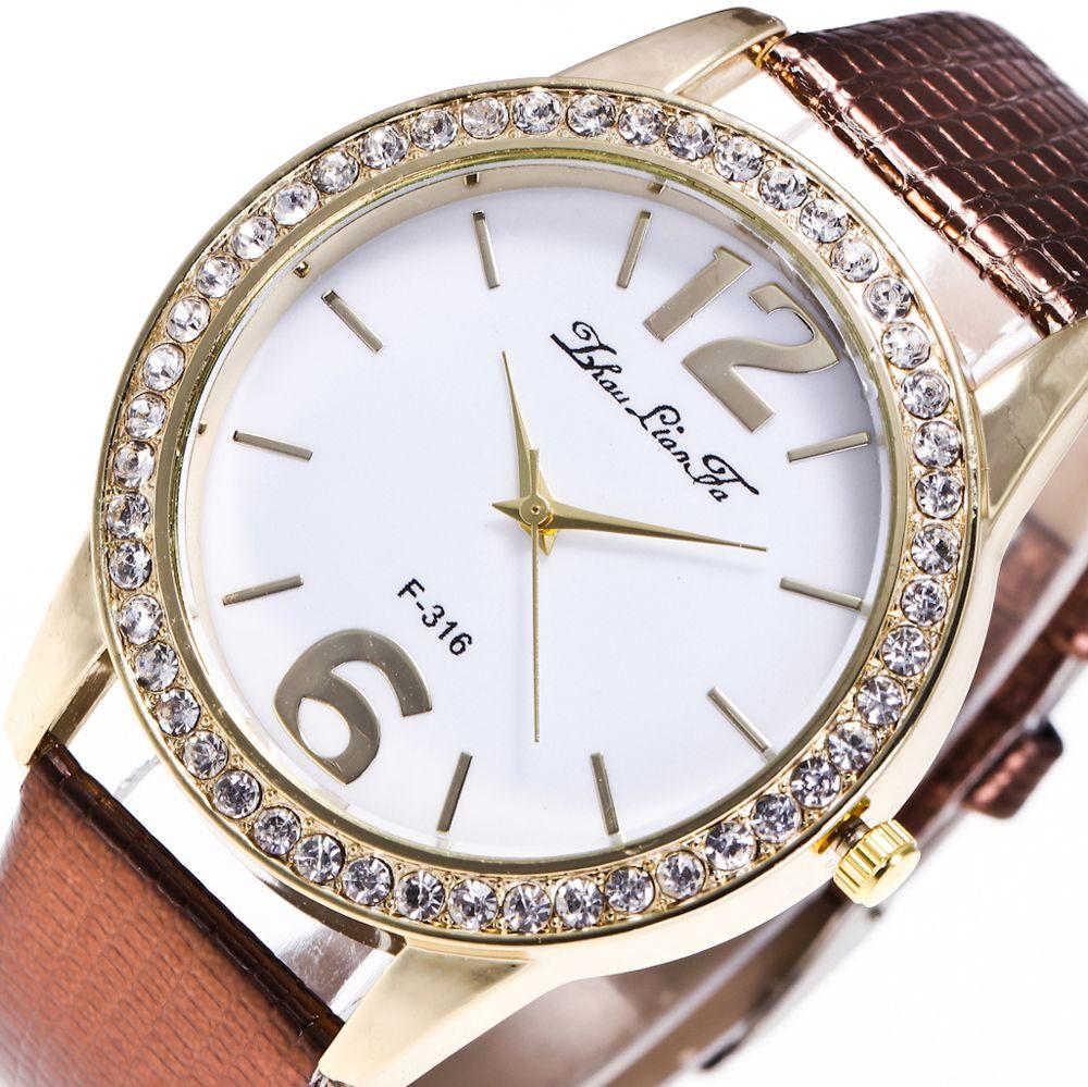ZhouLianFa New Fashion Crocodile Pattern Luxury Diamond Quartz Watch