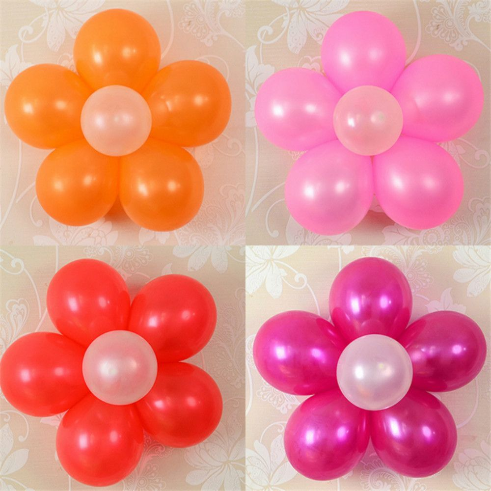 10PCS 6.5CM Useful Flower Shape Balloons Sealing Clip Ballon Buttons Clips Wedding/Birthday/Christmas Party Decoration S
