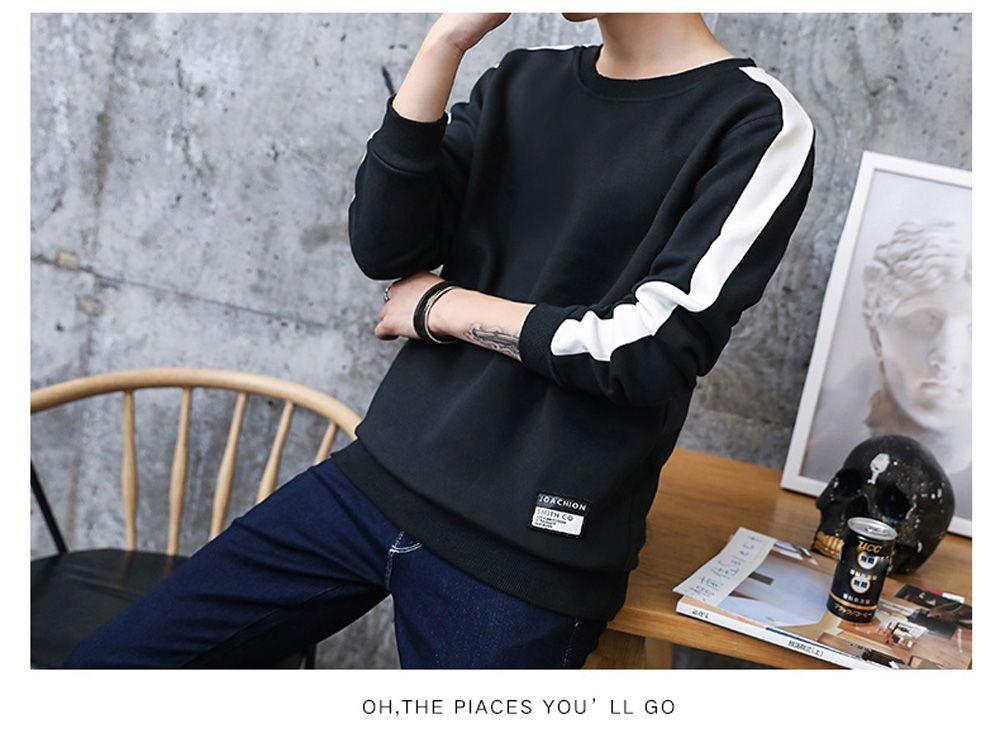 Men's Round Collared Sports  Sweatshirt
