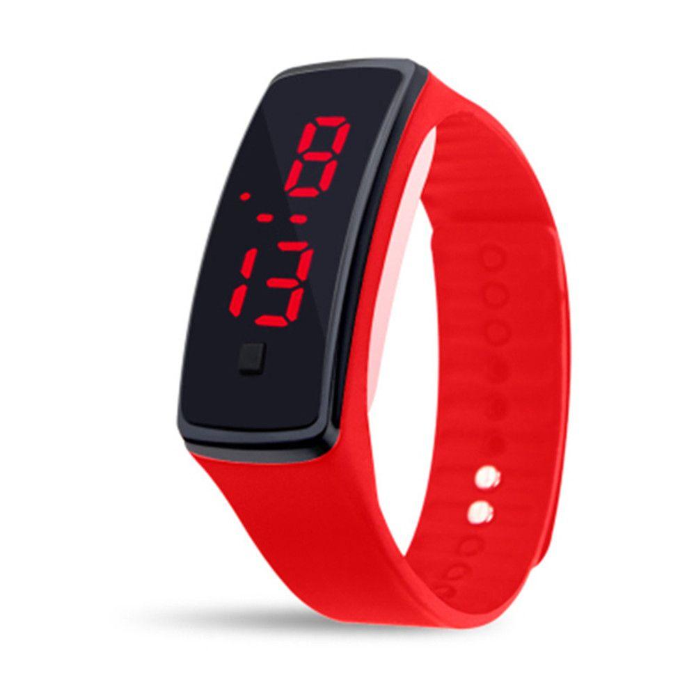 Unisex Rubber LED Watch Date Sports Bracelet Digital Wrist Watch