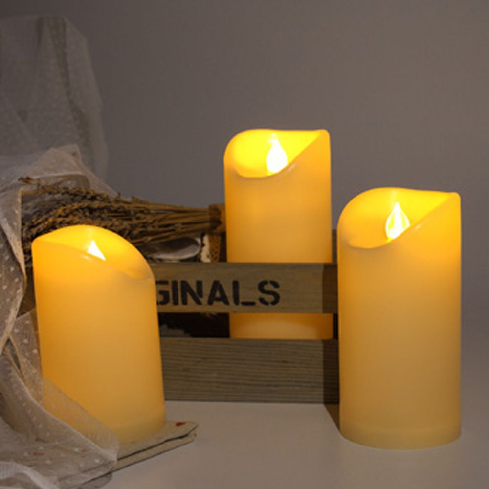 Set of 3pcs Flameless candles for Outdoor Using