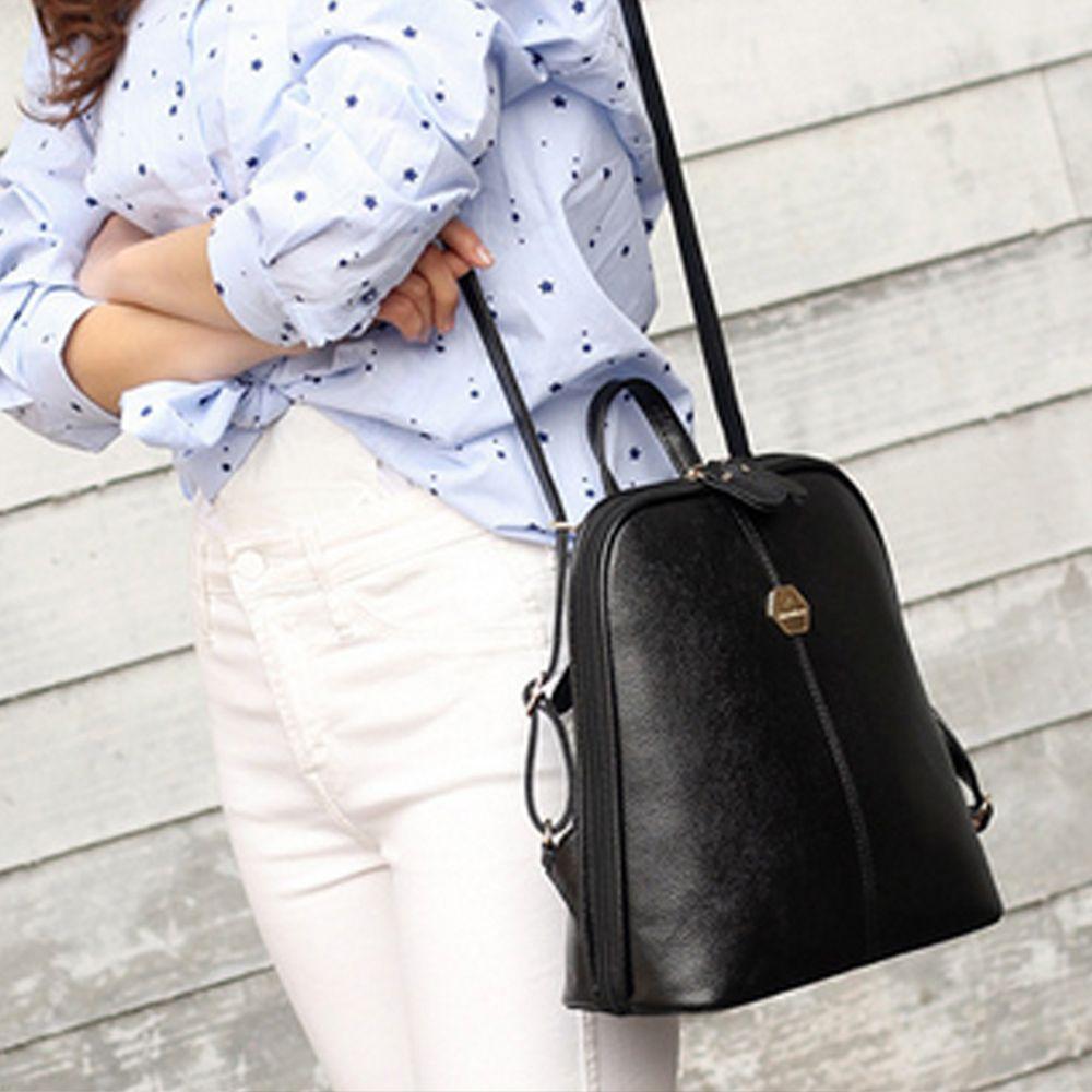 Women's Backpack Brief Style Classy All Match Zipper Bag