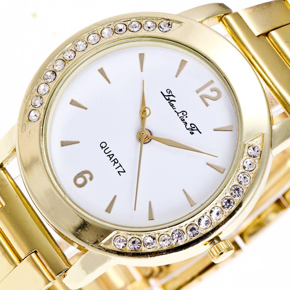 ZhouLianFa New Trend of Outdoor Gold Band Diamond Quartz Watch