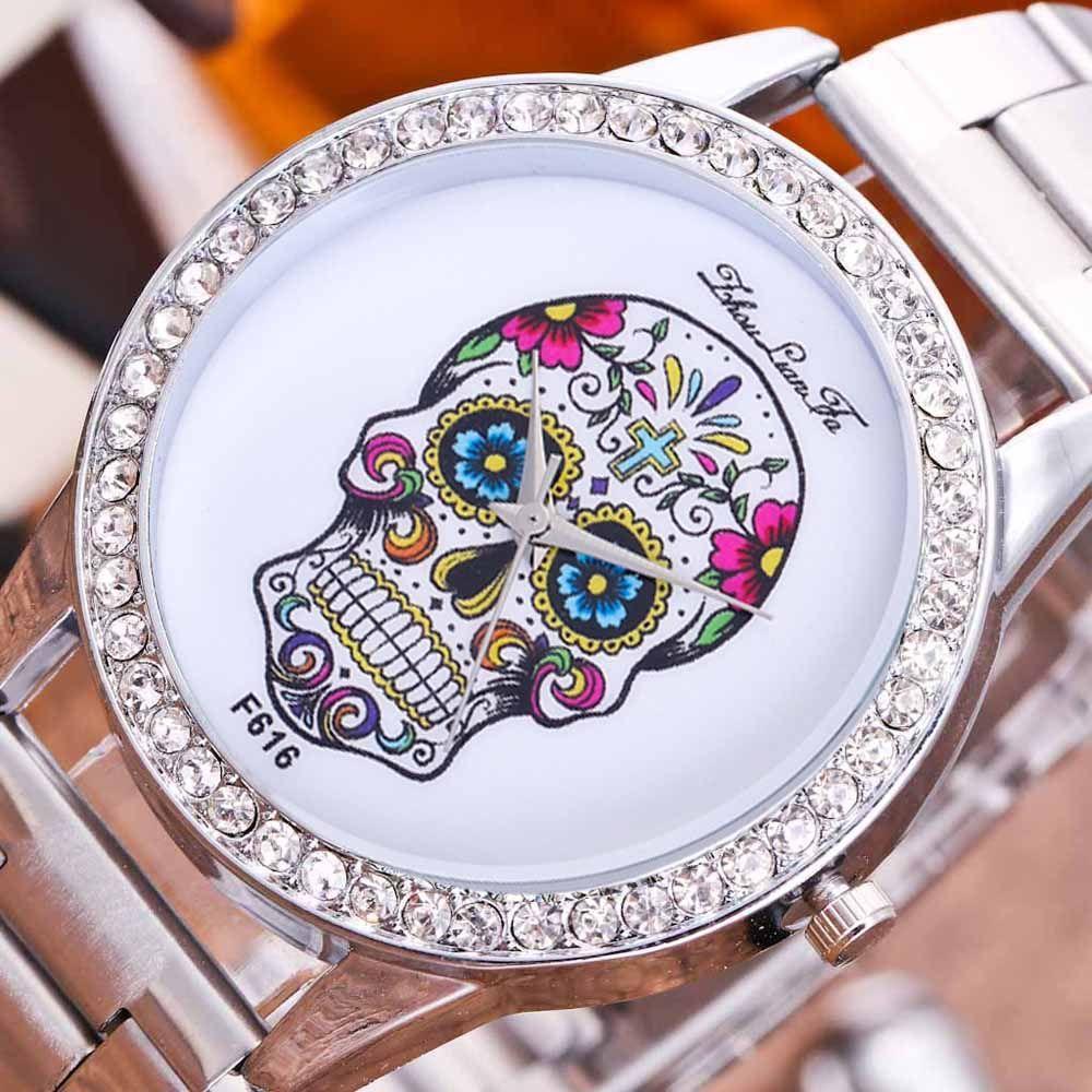 ZhouLianFa New Fashion Silver Belt Luxury Diamond Women Quartz Watch
