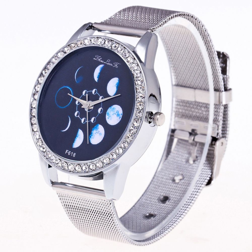 ZhouLianFa New Fashion Silver Belt Luxury Diamond Women Movement Quartz Watch