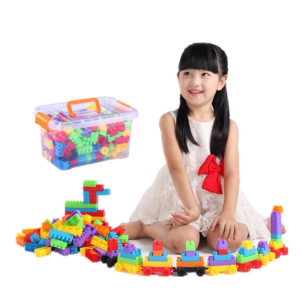 200 Grains  Larger Particles Building Blocks  Collage Children Puzzle  Creative DIY  Plastic Toys