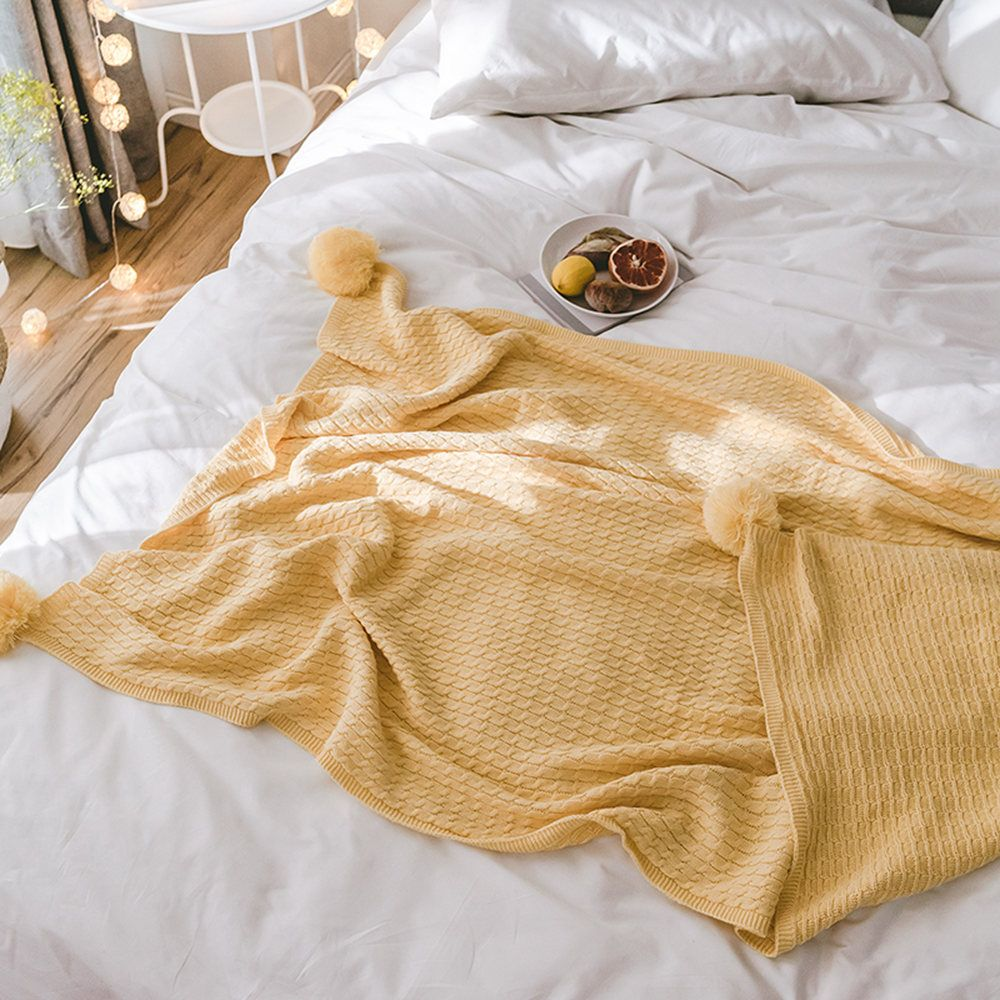 New Cotton Knit Ball Wool Casual Blanket