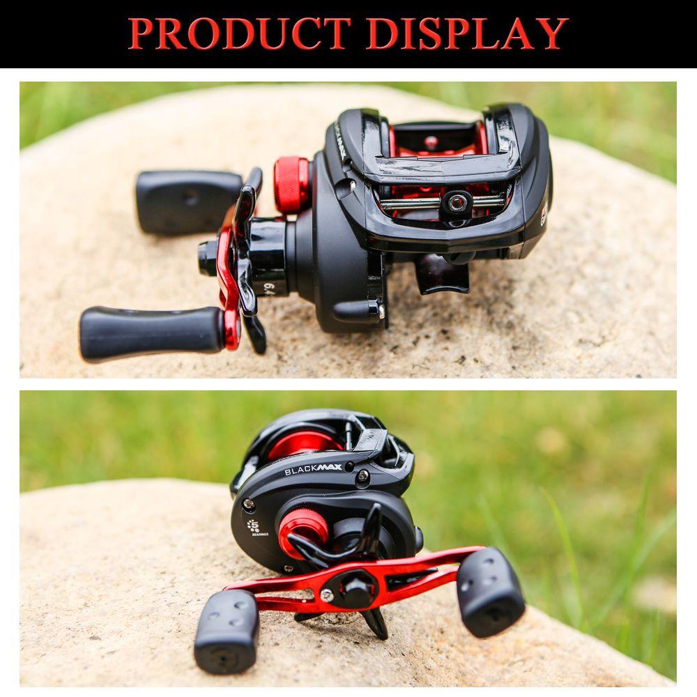 Abu Garcia BLACK MAX3 Affordable High Speed 4+1 BB Ball Bearing Right Hand Baitcast Fishing Reel