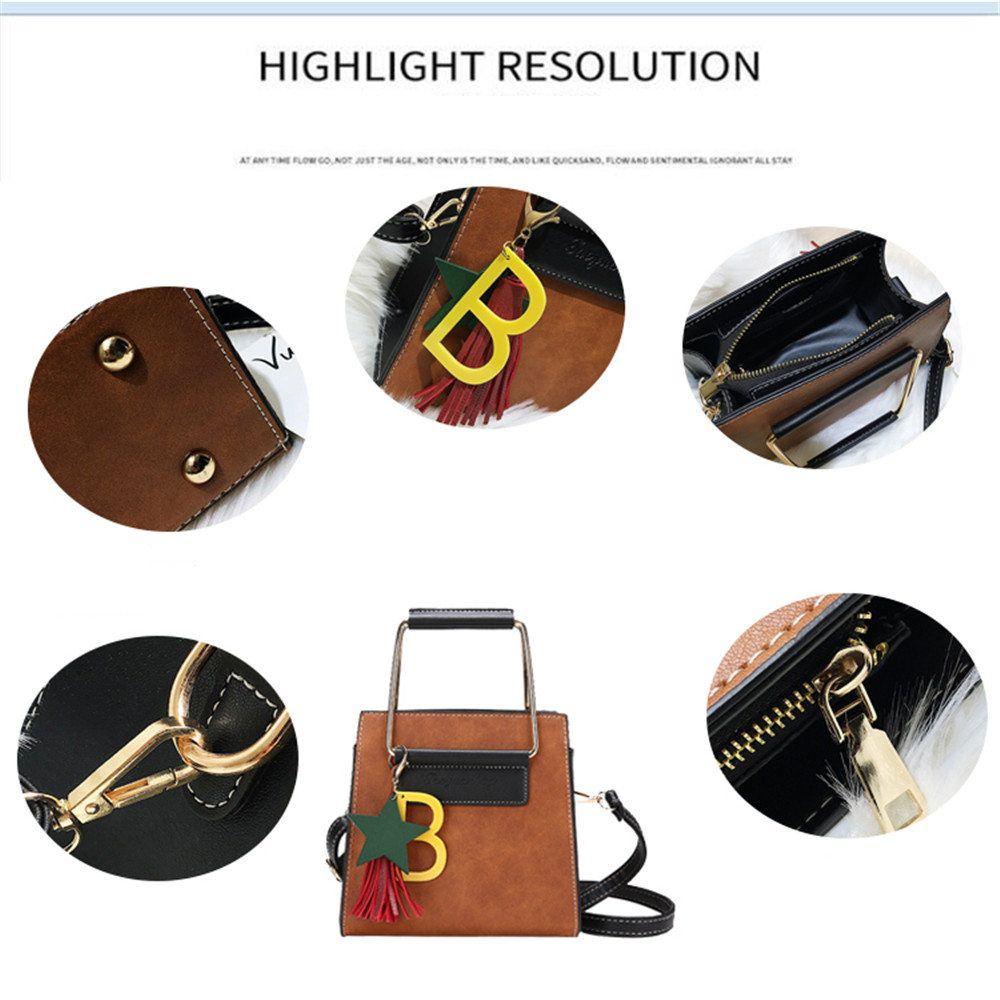Small Square Shoulder Shoulder Messenger Handbag Fashion Hit Color Handbags