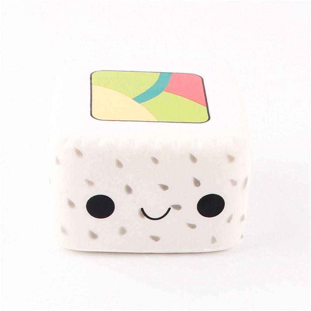 Kawaii Cartoon Face Pendant Stretchy Bread Squishy Cute Yummy Sushi Slow Rising Cake Kids Fun Toy Gift Phone straps