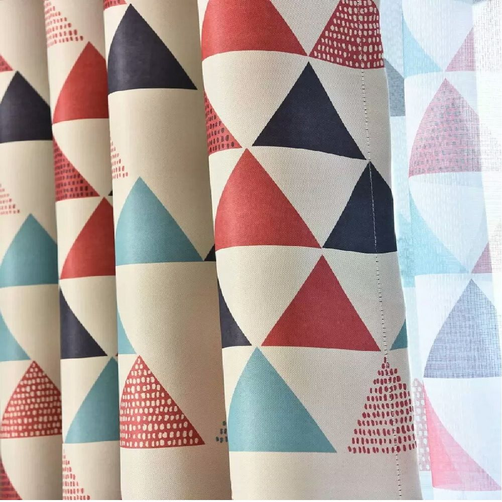 Geometric Triangle Shading Curtain