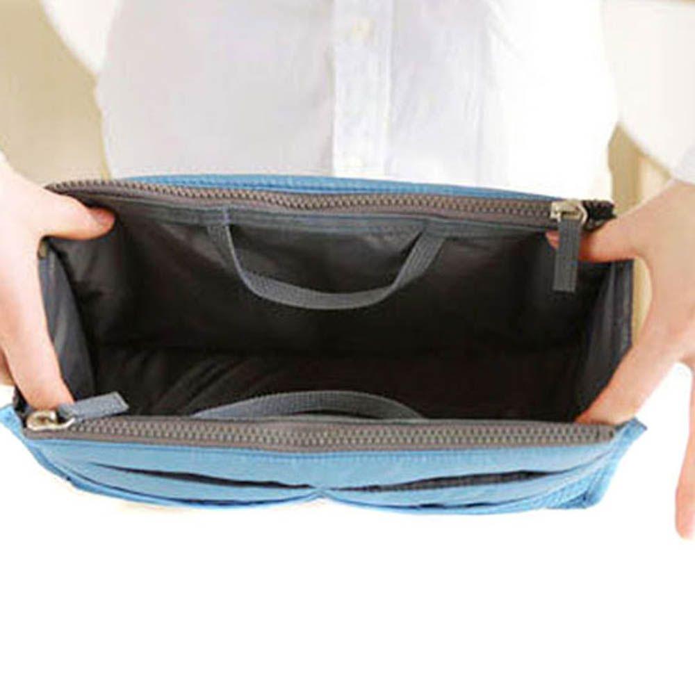 Thickening portable double zipper multifunctional bag storage finishing bag cosmetic bag storage bag cosmetic finishing