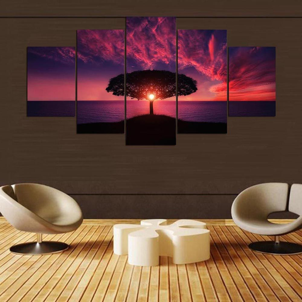 YSDAFEN5 Piece Modern Wall Art Home Decoration Pictures Canvas