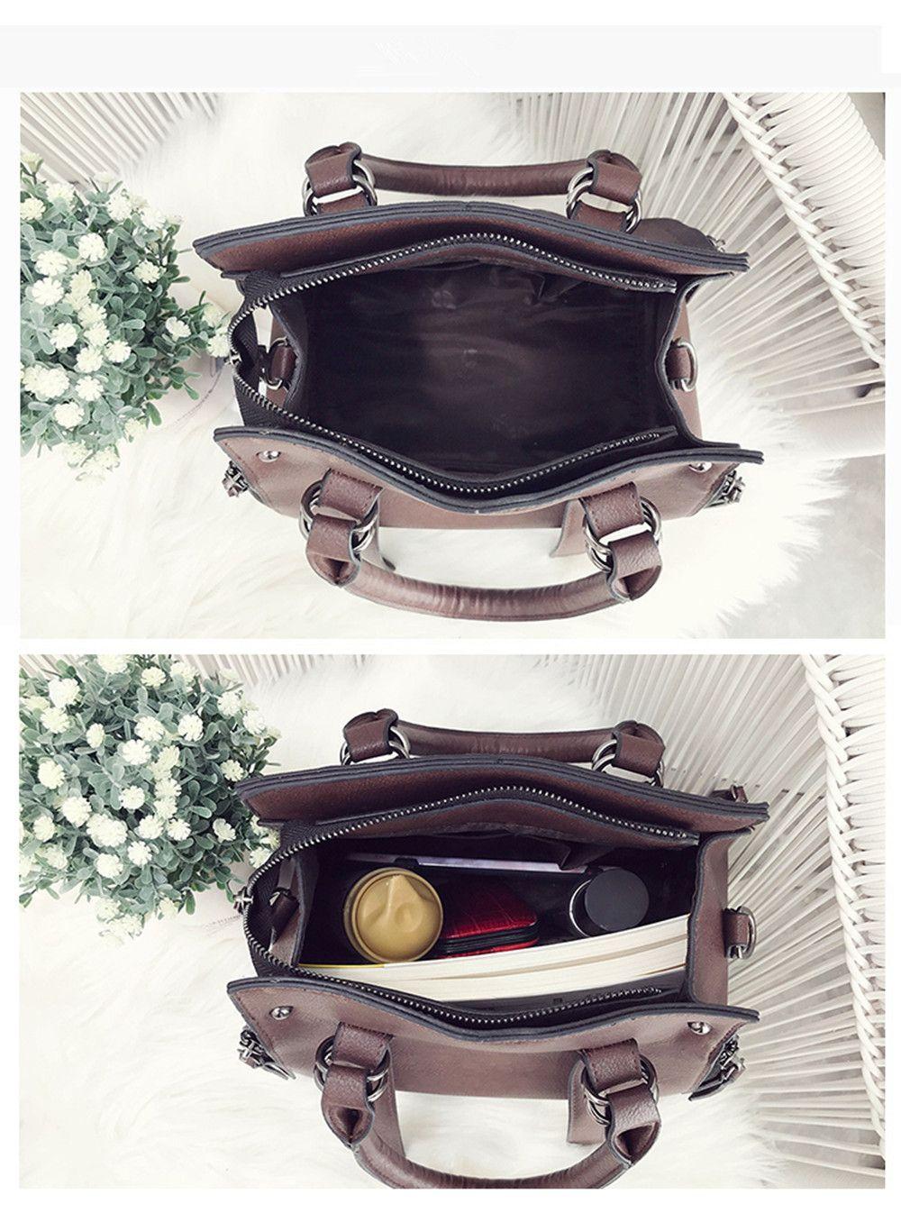 New Handbag Atmospheric Hand-Held Large Capacity Shoulder Messenger Bag