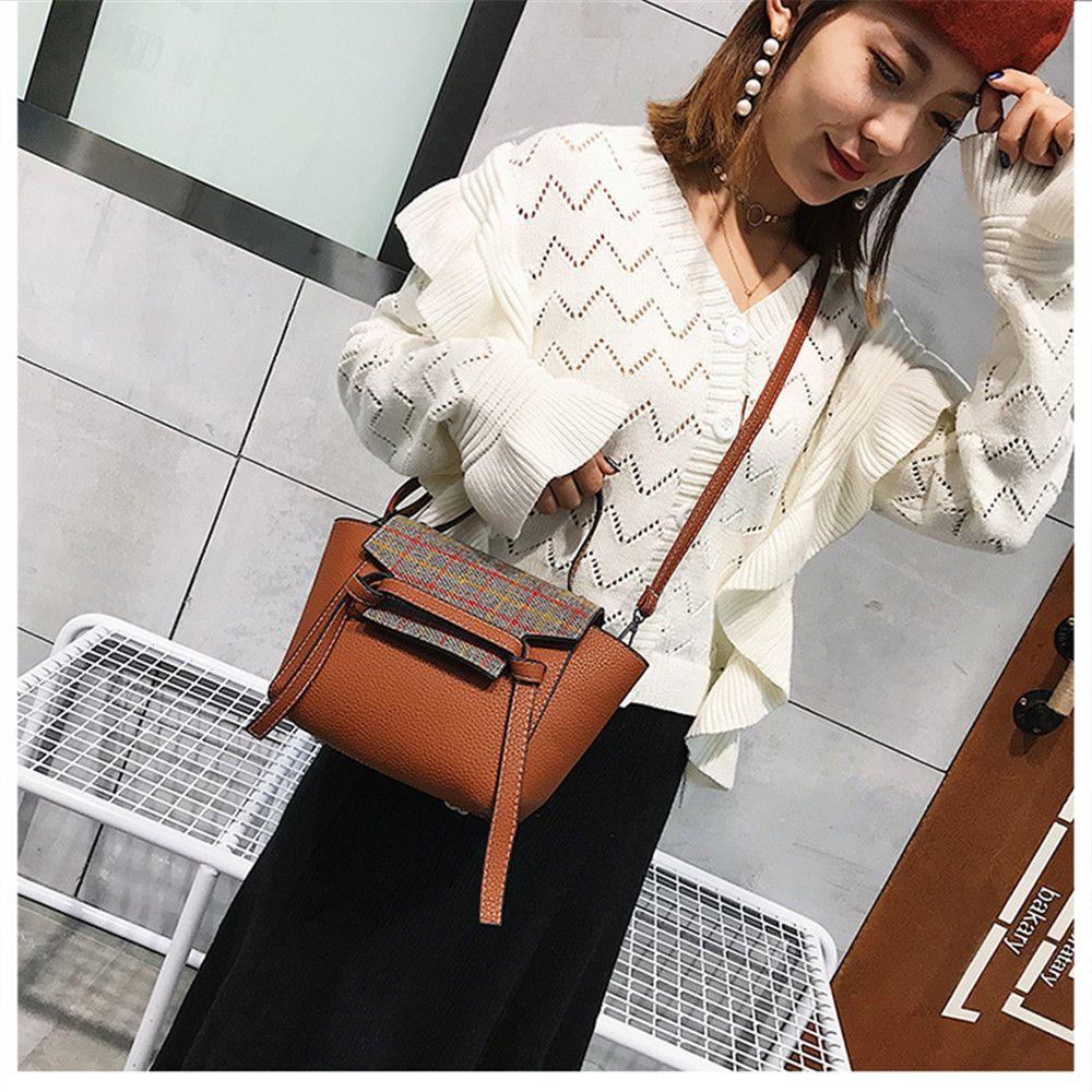 New Wave Wild Shoulder Messenger Bag Plaid Handbags