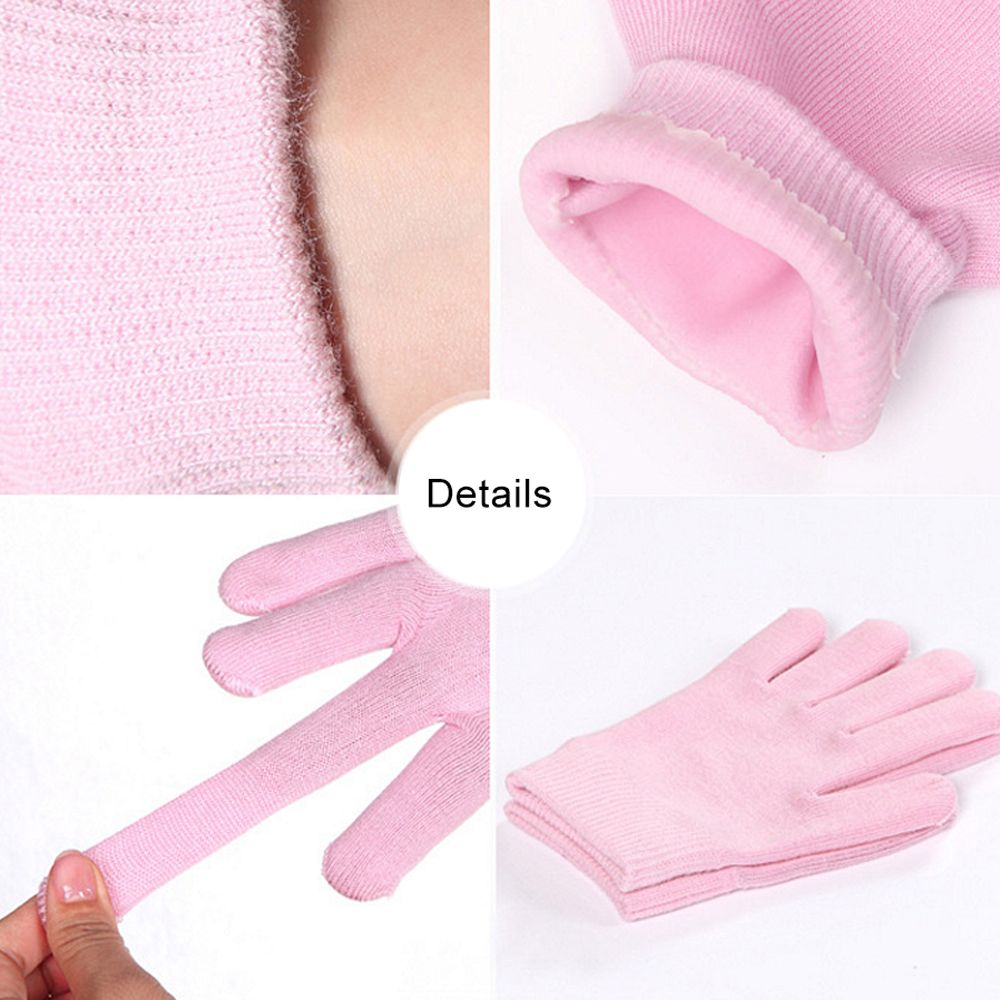 2 Pairs SPA Gel Socks Gloves Reusable Moisturizing Exfoliating SKin Care Tools