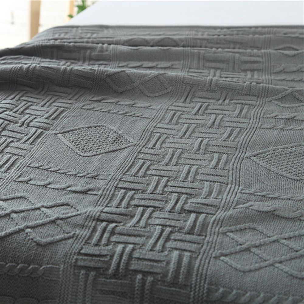New Products With Thick Warm Cotton Knitted Wool Casual Blankets