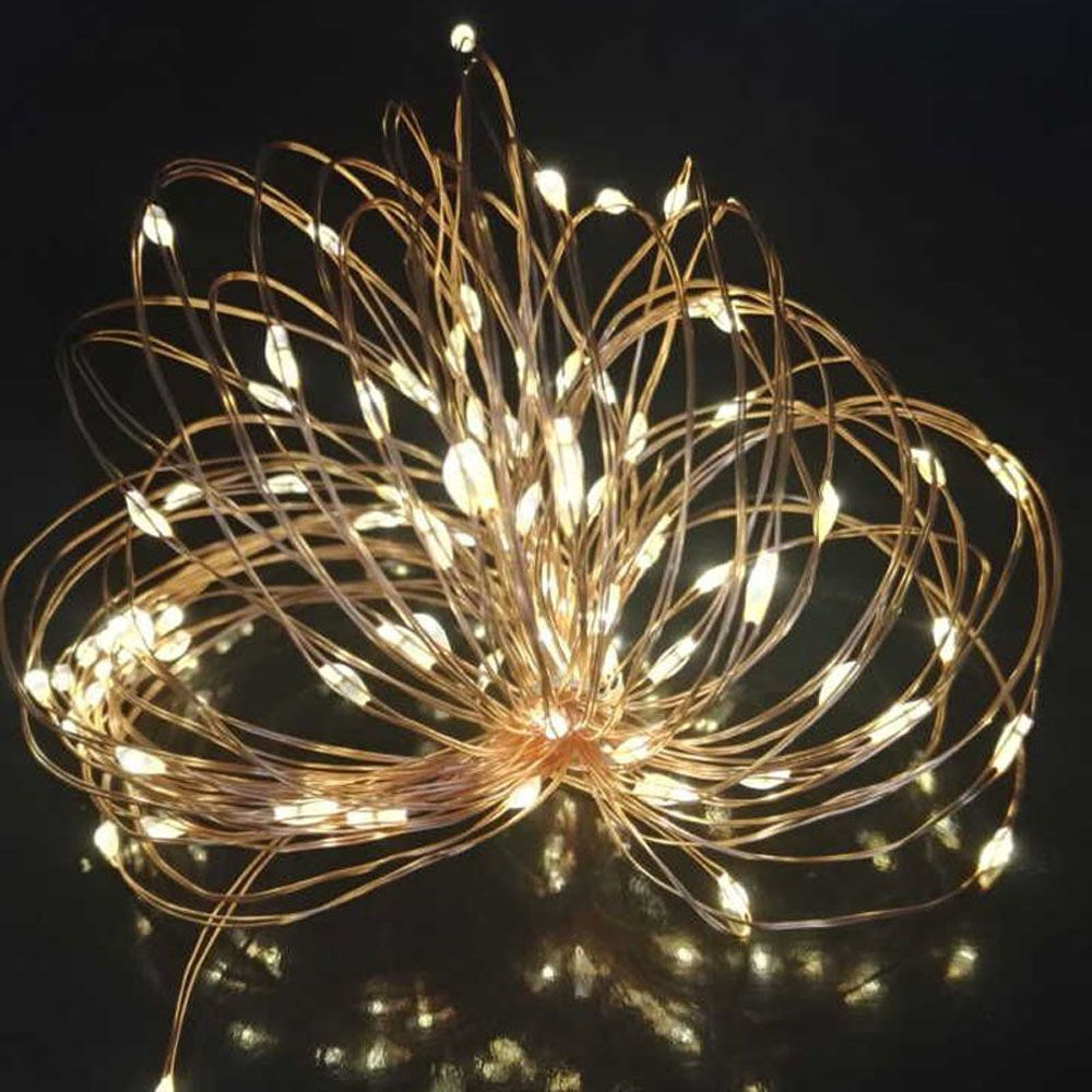 10M 100 Led Copper Wire String Light Solar Power String Fairy Light For Outdoor Living Decoration Garden