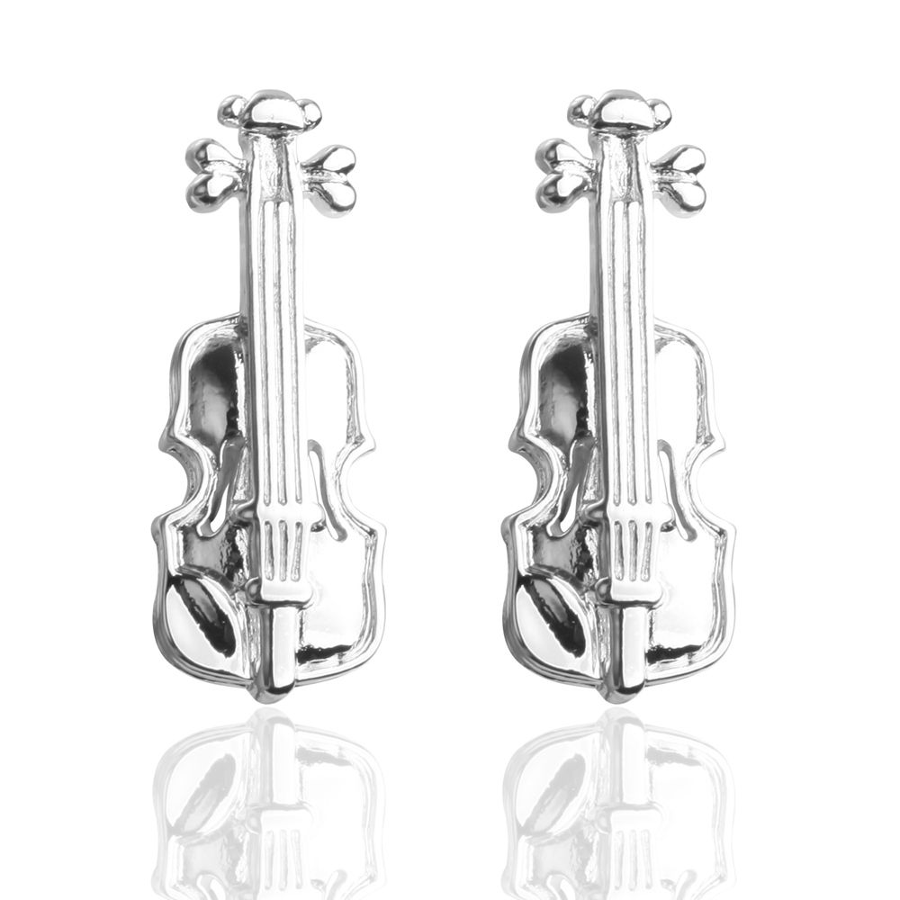 White Oil Violin Personality Cufflinks Cuff Links