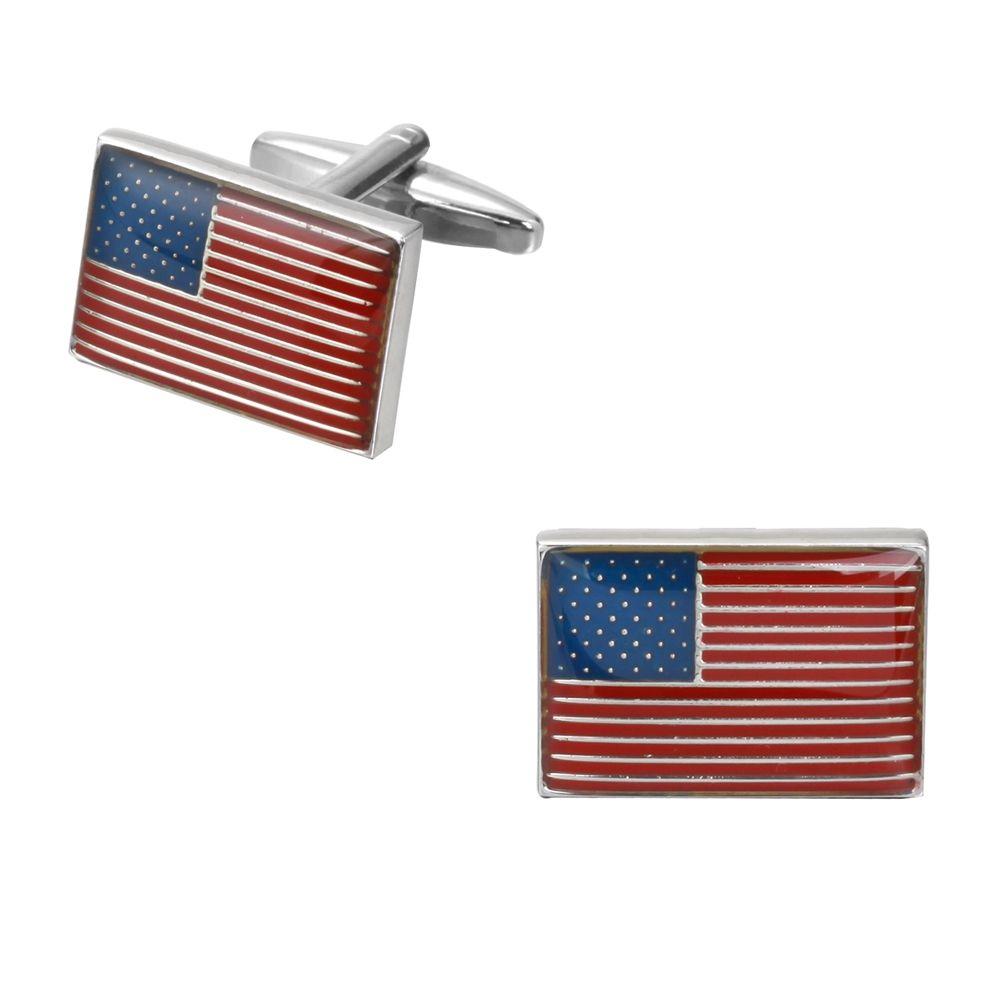 High Quality Oil Dripping American Flag Box Cufflinks Cuff Links