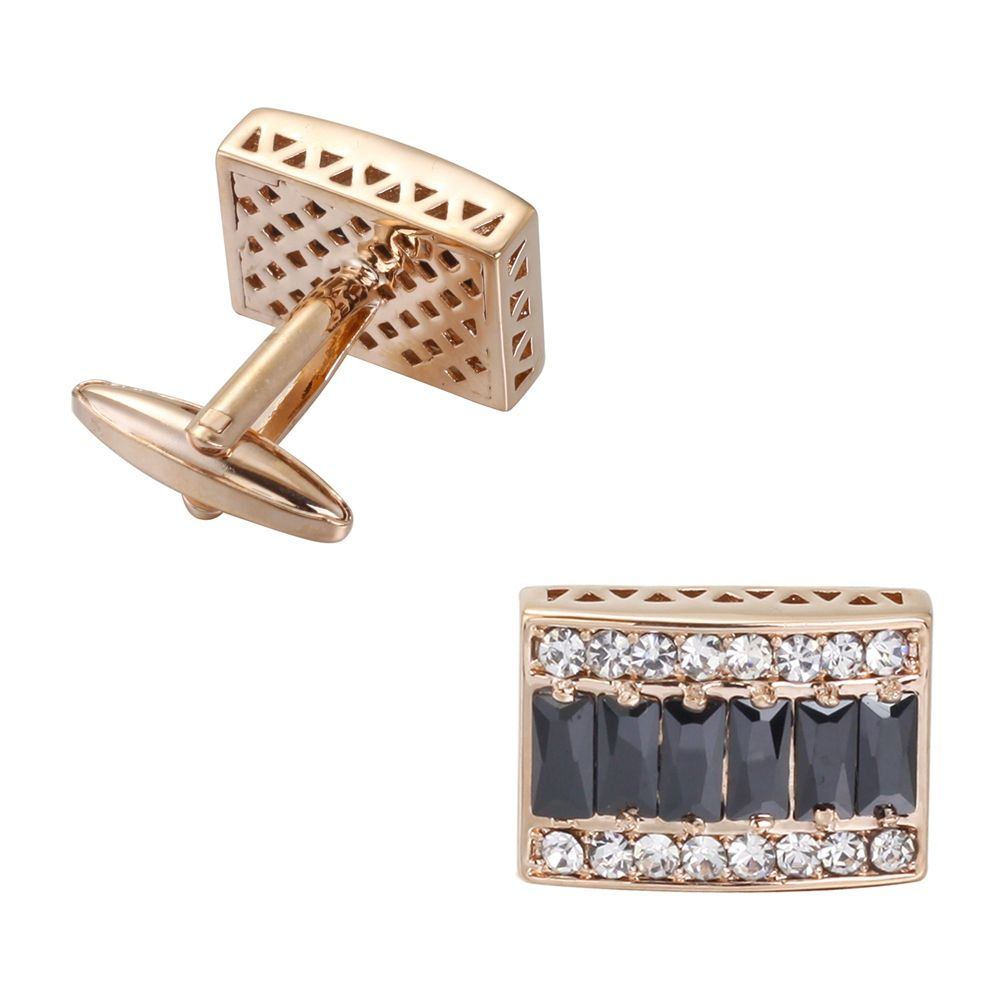 The High-End Luxury Gold-Plated Box Full Diamond Cufflinks