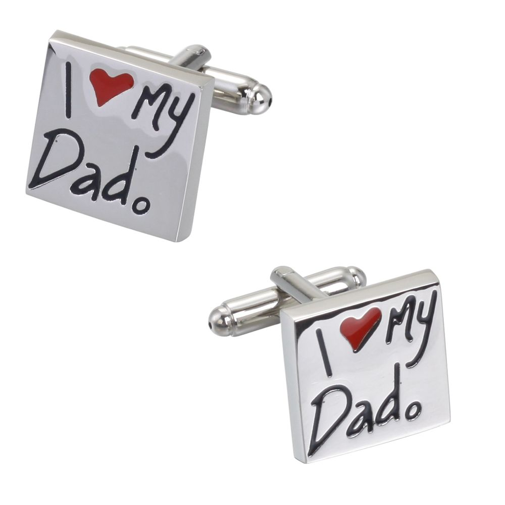I Love My Dad Smooth Bottom Oil Cufflinks Cuff