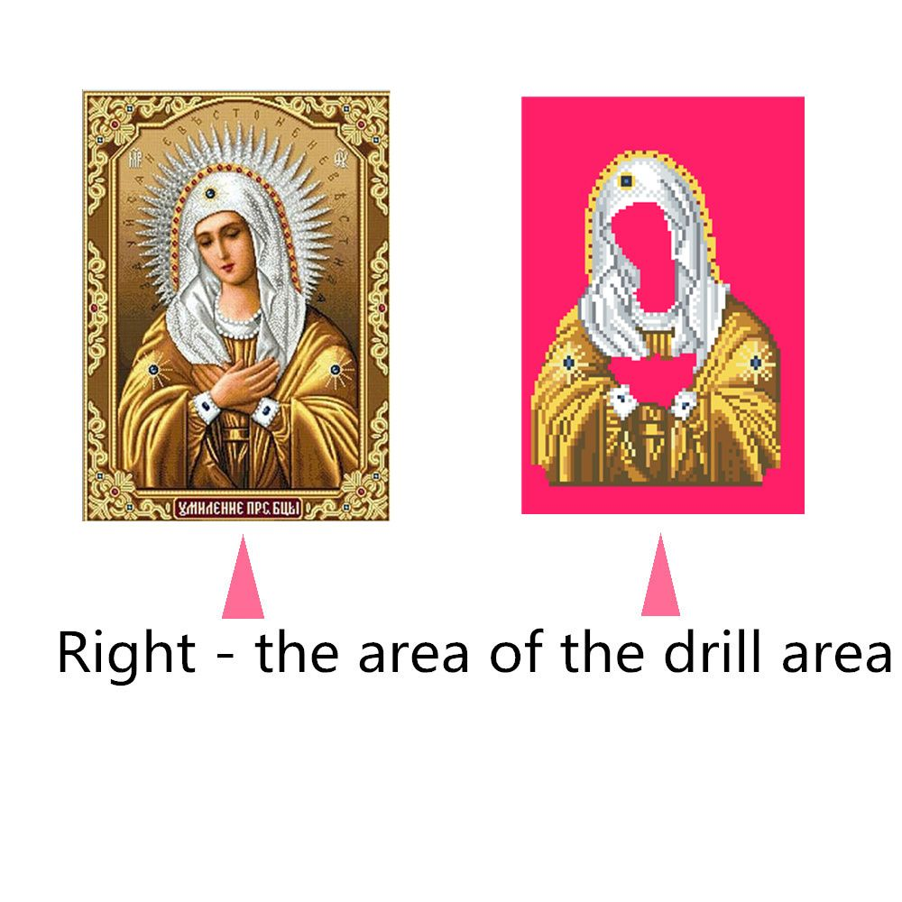 Naiyue 9368 Golden Religion Print Draw Diamond Drawing
