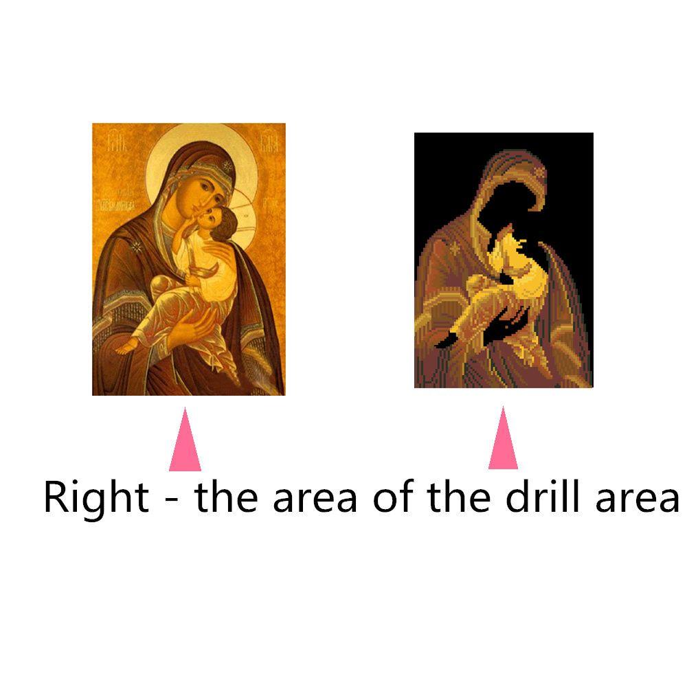 Naiyue 9389 Religious Print Draw Diamond Drawing