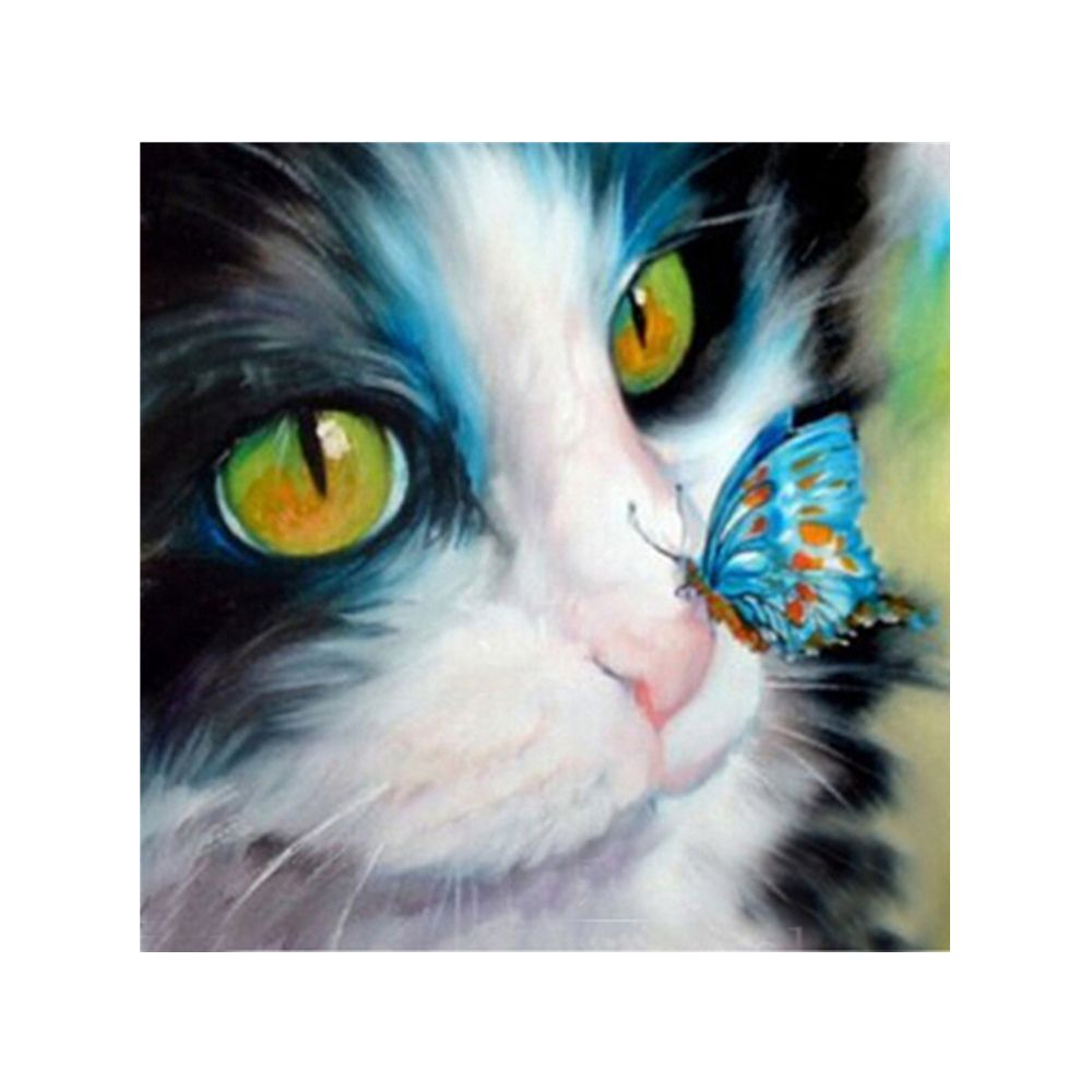Naiyue 9526 Butterfly Cats Print Draw Diamond Drawing