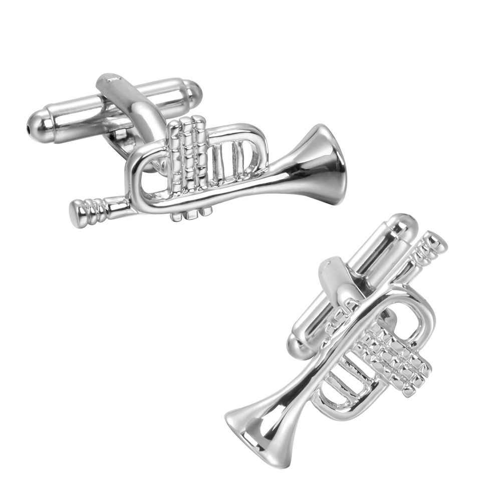 New Silver Cufflinks Cuff Sax S Personality Cuff Links