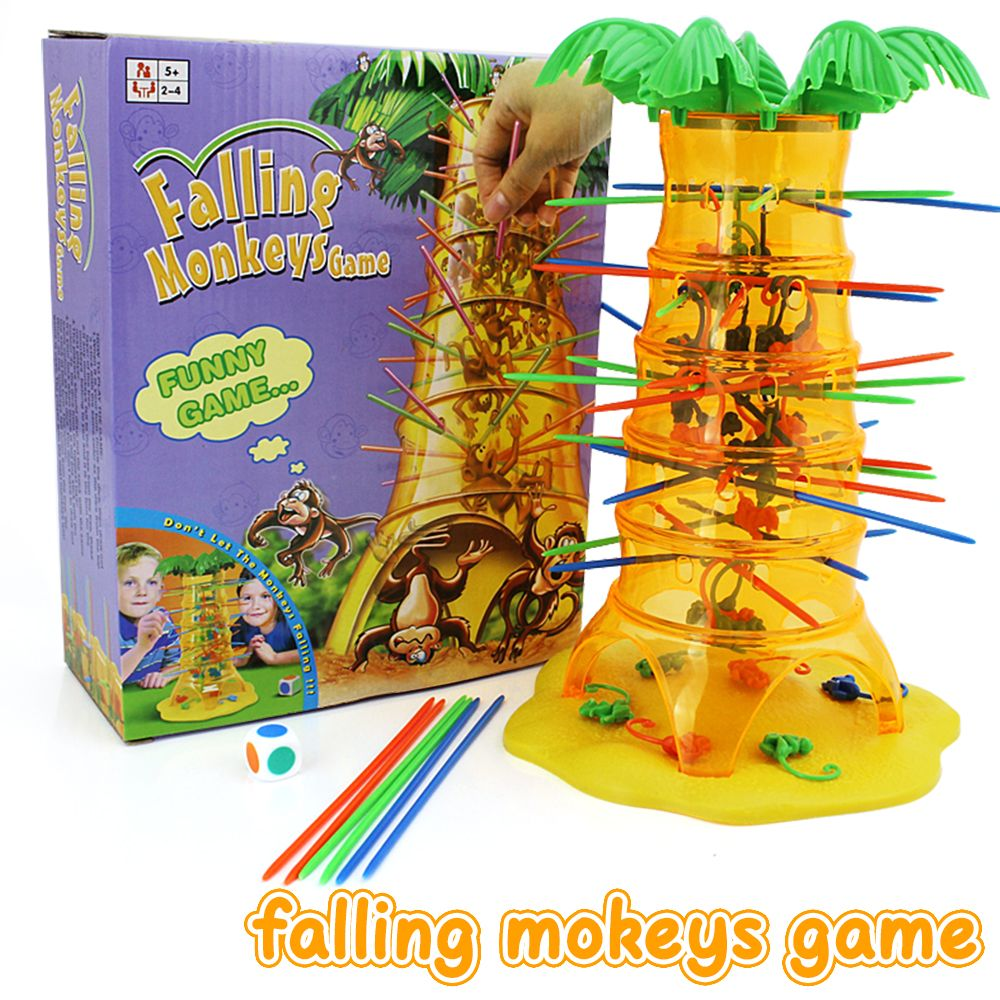 Parent-Child Interactive Board Game Skip Monkey Falling Fancy Interesting Toys