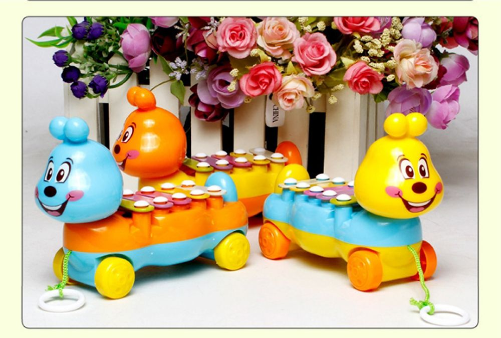 Children's Colorful Caterpillars Hand Knock Tractors Animals early Musical Instruments The Enlightenment Educational Mus
