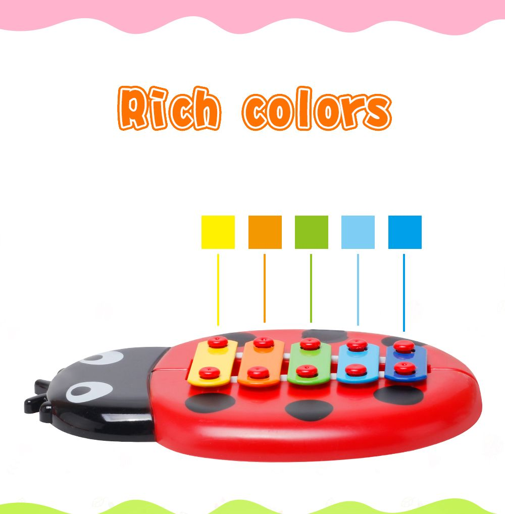 Baby Educational Insects Hand Knock Harp Early Childhood Music Eight Children Percussion Toys