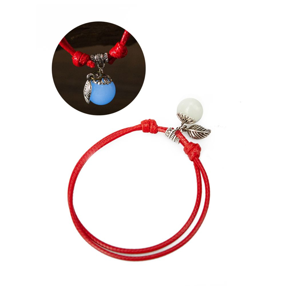 Women Ankle Chain Vintage All Matched Luminous Fashion Accessory YMJL-Red