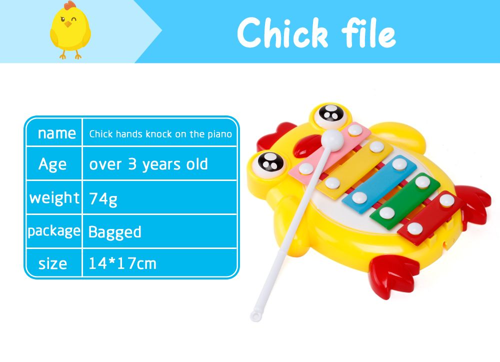 Children Percussion Baby Educational Chicken Hand Knock Early Childhood Music Eight Piano