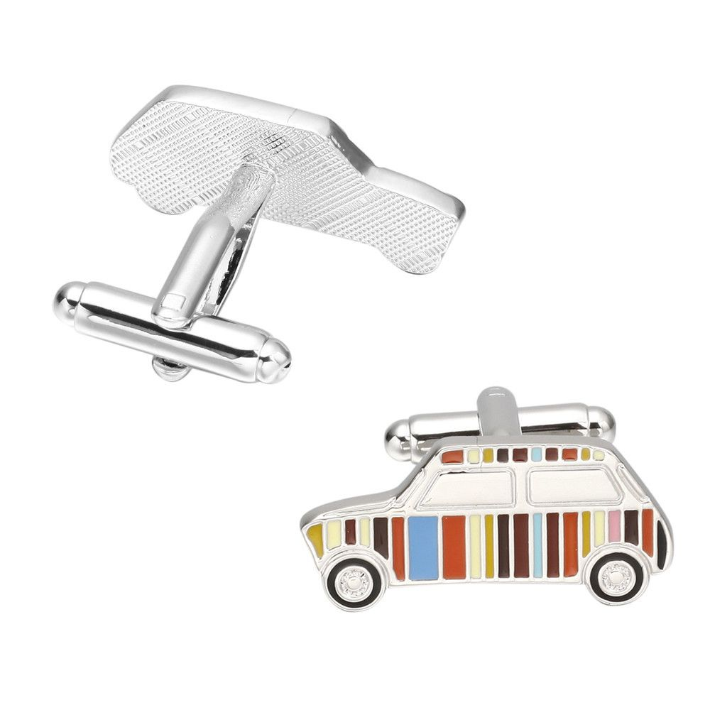 Fashion Colorful Cars French Cufflinks Long Sleeve Shirt Nail Cuff